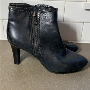 black ankle booties size 6.5 leather